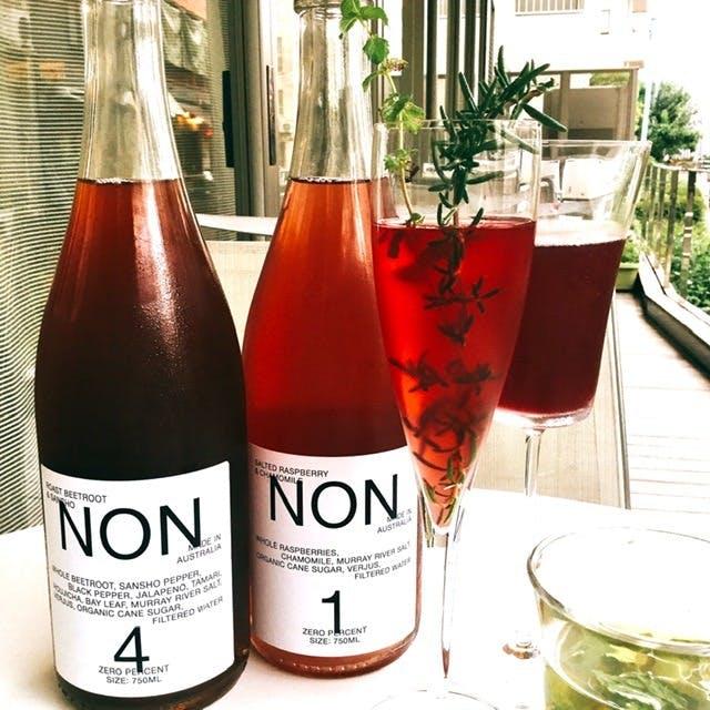 【ノンアルコールペアリング】ハーブティーやオーガニックドリンク等ノンアルコールペアング4杯