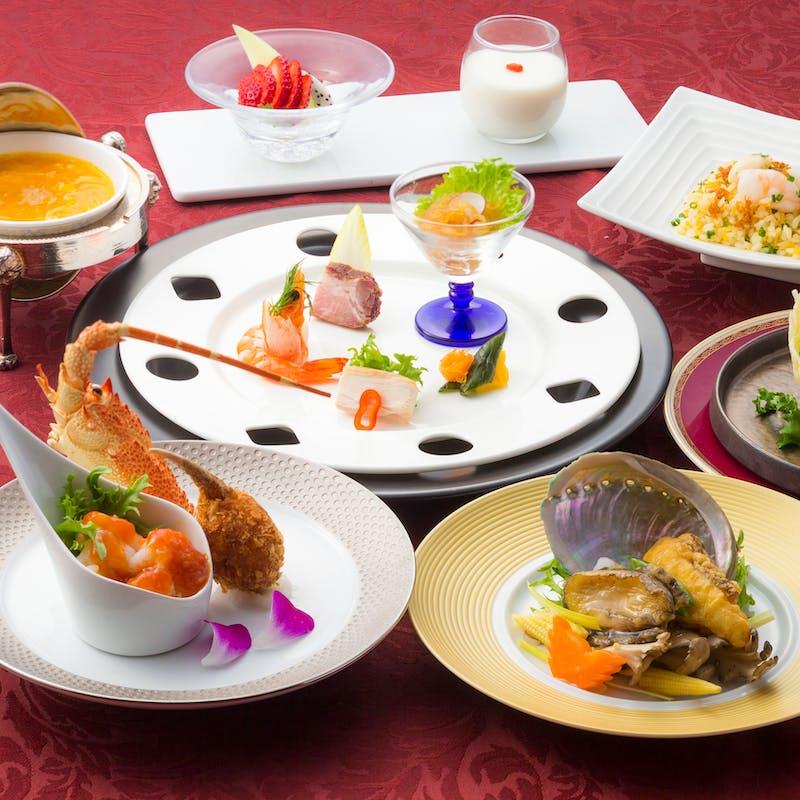 【プレジュール】鮑と白身魚炒め、海の幸炒飯等・個人盛り提供(接待やお顔合わせに)