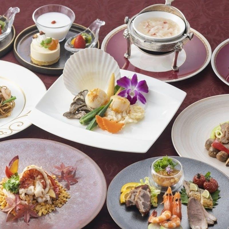 「茉莉花 ‐Jasmine‐」ふかひれスープ、牛ロース肉、オマール海老など全7品