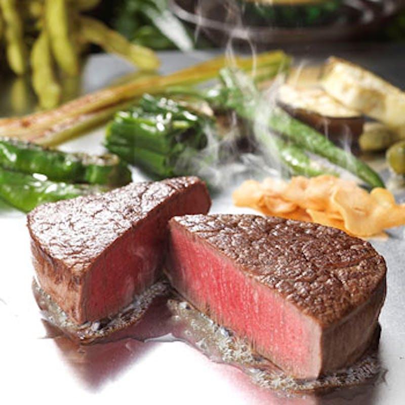 【五山】黒毛和牛フィレ&サーロインの食べ比べなど全8品