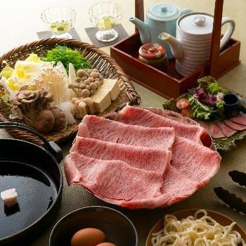 【黒毛和牛A5霜降りロース肉(220g)すき焼きコース】