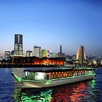屋形船で横浜の夜景を堪能