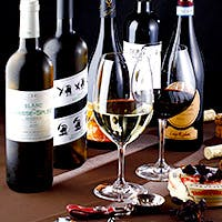 常時50種類以上のワイン・シャンパンをご用意
