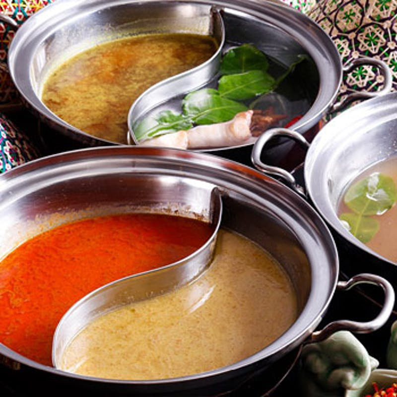 【タイスキ鍋コース】生春巻、トムヤムスープの米麺など全4品+90分飲み放題