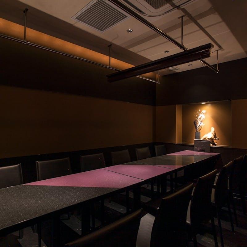 【個室プラン】牛ロース肉、天ぷら含む創作和食コース+2時間飲み放題(10品コース・個別盛)