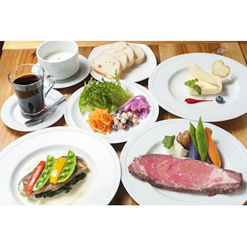 【肉・魚のWメインフルコース】全5品+乾杯グラスワイン(平日)