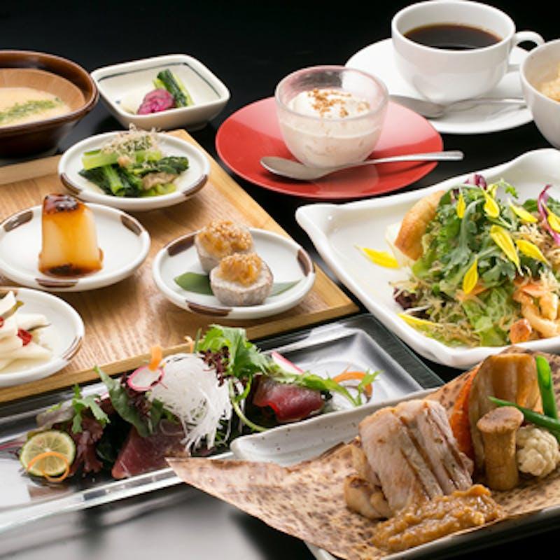 【旬のランチコース】桜山豚料理&魚料理など全6品+1ドリンク
