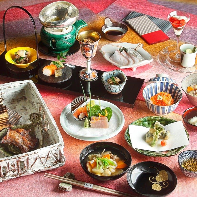 季節ごとに旬の食材を使った限定のお食事をお楽しみ
