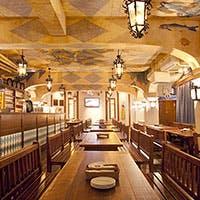 ギネス認定世界最大ビアホールを再現した店内