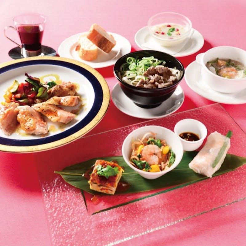 【チャオコース】ベトナム前菜3種、海鮮春雨、牛肉のフォーなど全5品(ランチ限定)