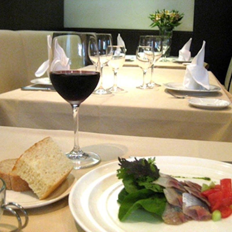 【ディナーCプラン】フォアグラ含む前菜2種、パスタ、メインなど全7品+選べる1ドリンク(平日限定)
