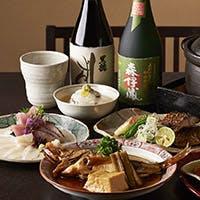 日本各地の旬素材を創作和食で味わう
