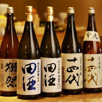 日本各地の厳選地酒30種類以上を堪能