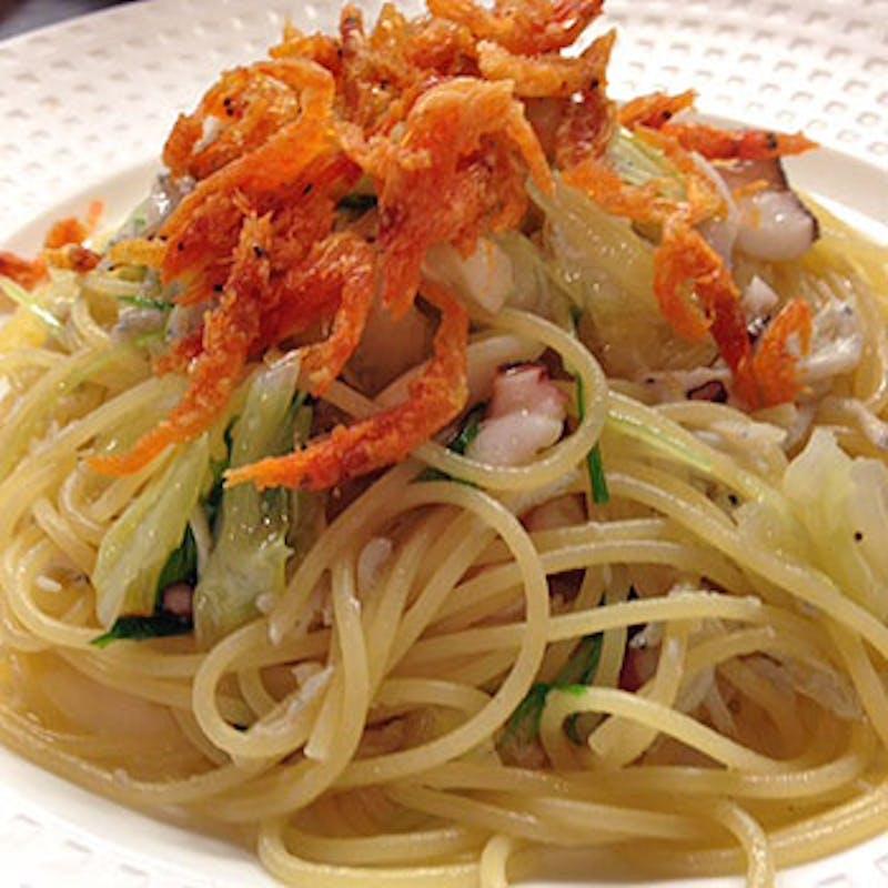 【お気軽ディナー】前菜5種・ズワイガニとあさりのパスタなど