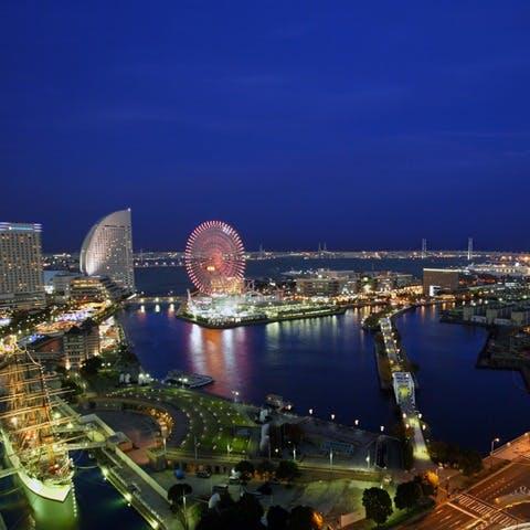 横浜一の美しい感動夜景 開放感あふれる贅沢空間
