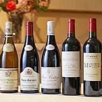 お料理に合わせた種類豊富なワイン