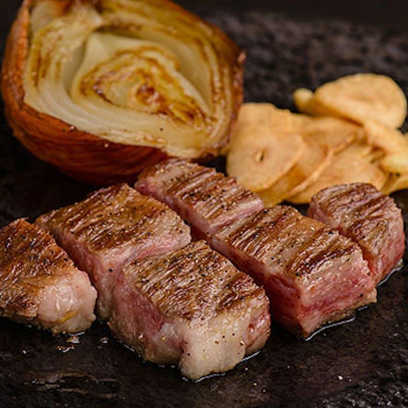 【人気No1】A5黒毛和牛 霜降肉と赤身肉のステーキコース(人気No.1!)