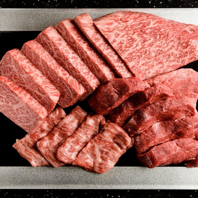 【A5黒毛和牛 赤身肉のステーキコース】