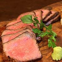 60日間熟成国産黒毛和牛がメイン 上質の熟成肉だけが持つ香りと旨味を五感で堪能