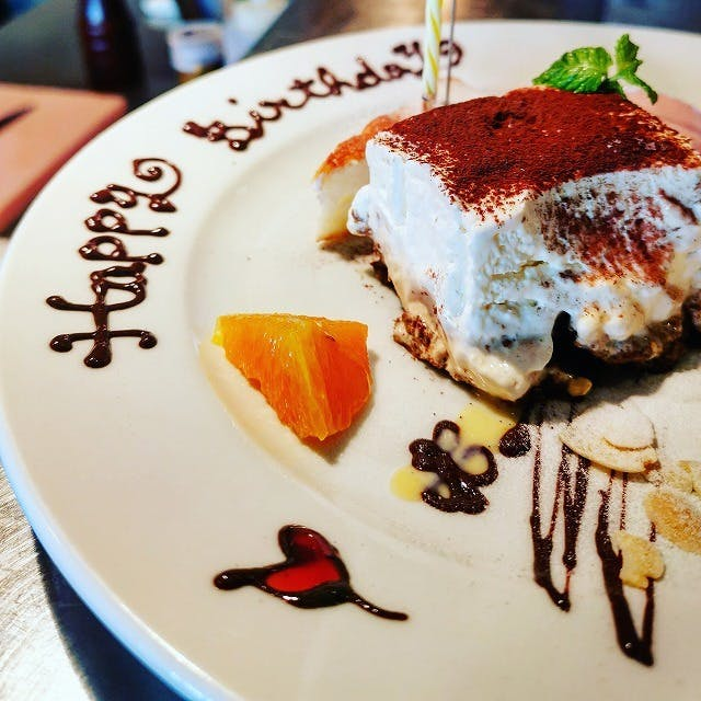 【誕生日・記念日に】デザートにメッセージをお入れいたします!(花火、ローソク付)