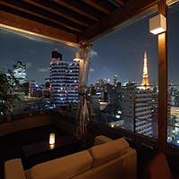 270°の絶景に囲まれた眺望ラウンジ、東京の二つのランドスケープがご覧になれます