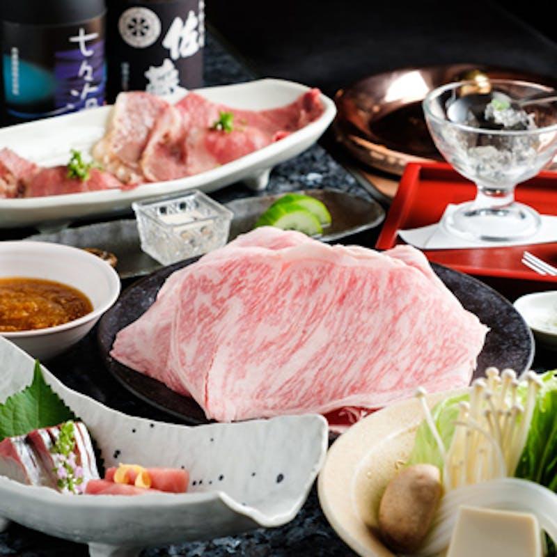 【松坂牛A5の他、4種類のお肉が食べ放題コース】全15品