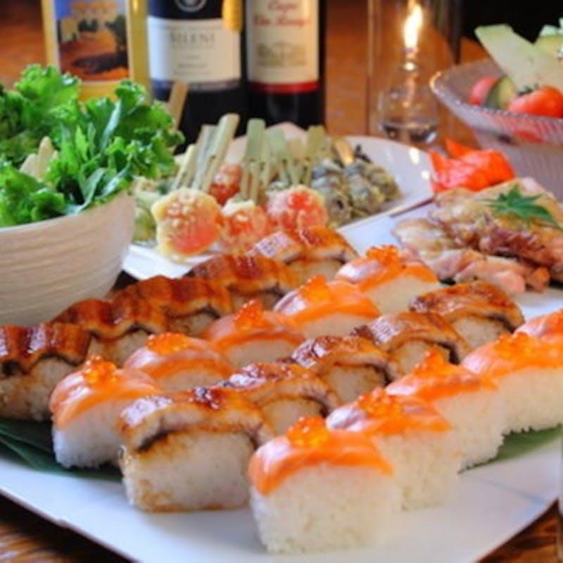 【ご宴会】2時間飲み放題付 目鯛&いずみ鶏など全7品(レストランエリア貸切・リクエスト)