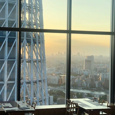 ソラマチ最上階からスカイツリー、富士山、舞浜を一望できる隠れ家的絶景スポット