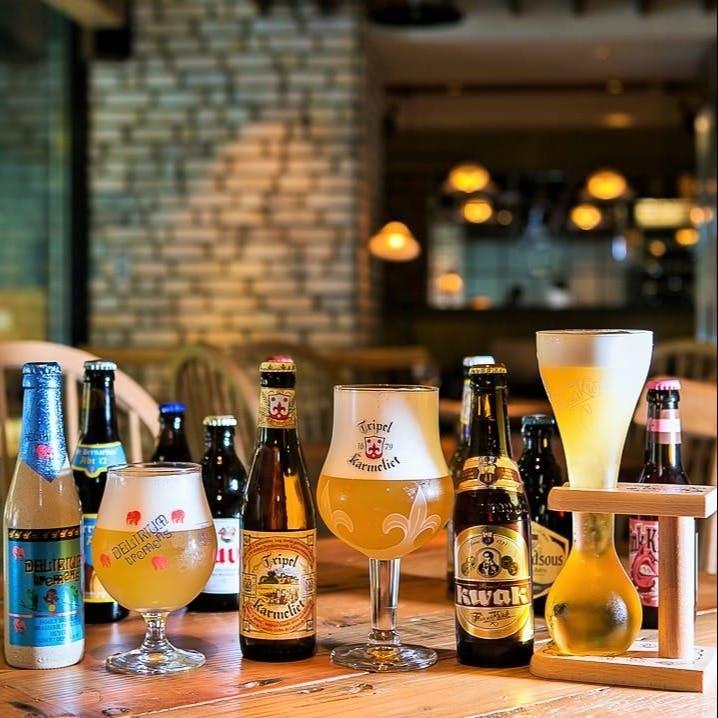 4種の樽生ビールやクラフトビールにもこだわりを