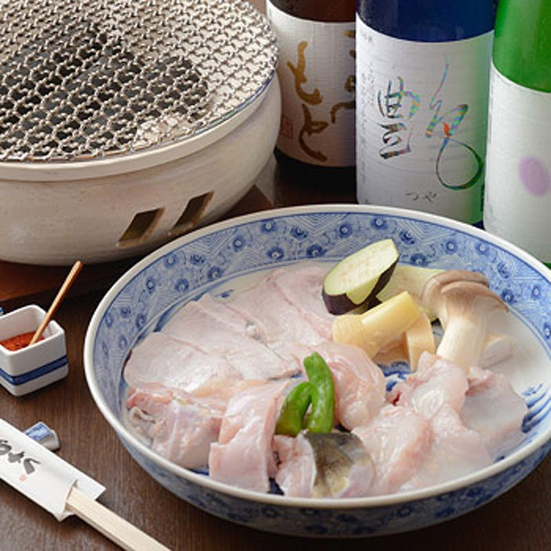 【焼刺しコース】炭焼きふぐ、てっさ、唐揚げ、雑炊など全6品(2名~個室利用可)
