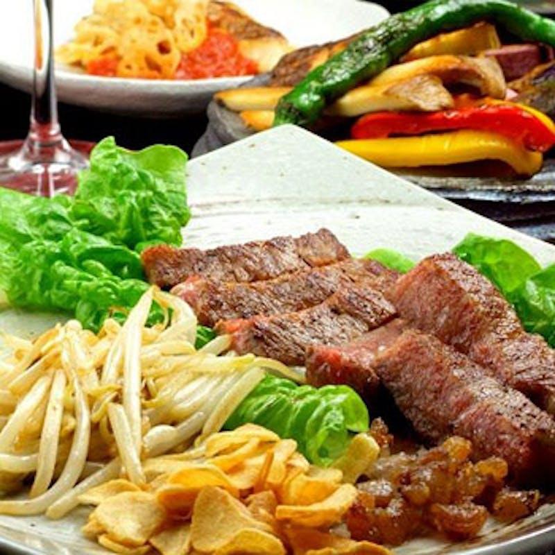 【奏コース】黒毛和牛ステーキ、お魚料理など全9品