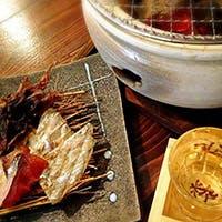 大手筋商店街 伏見桃山駅徒歩2分 七輪で焼き上げる山海の幸を厳選した日本酒と共に