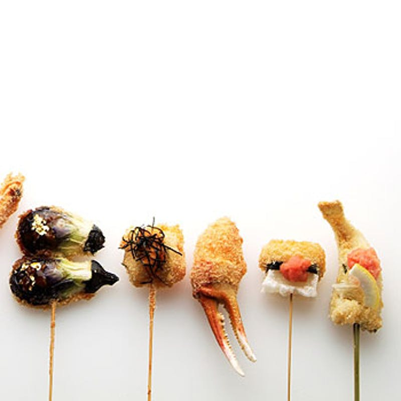 【串音のおきまりコース】季節の串揚げ、選べるお食事など(12本コース)