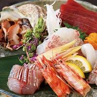 築地山治直送の魚介を使用したお料理
