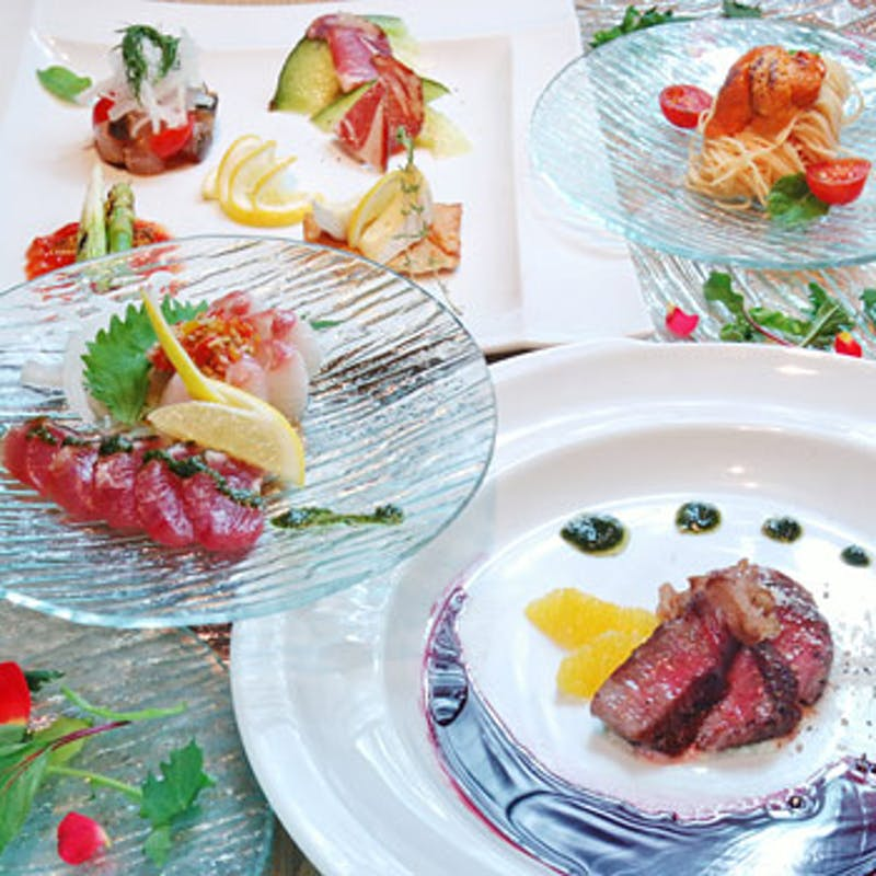 【ottimoコース】前菜8種、神戸牛とフォアグラ、伊勢海老など全7品