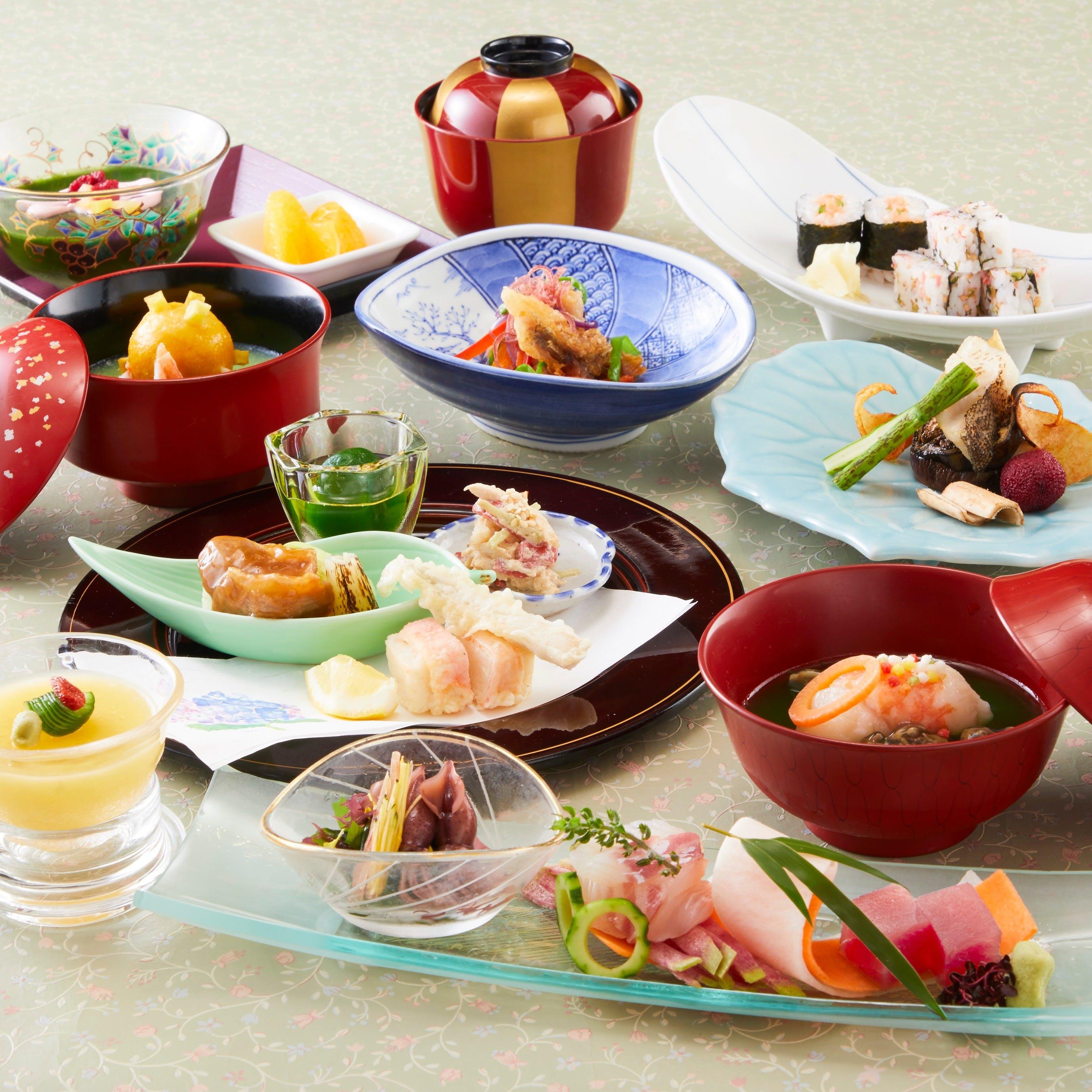 日本の味覚と四季の彩りを堪能