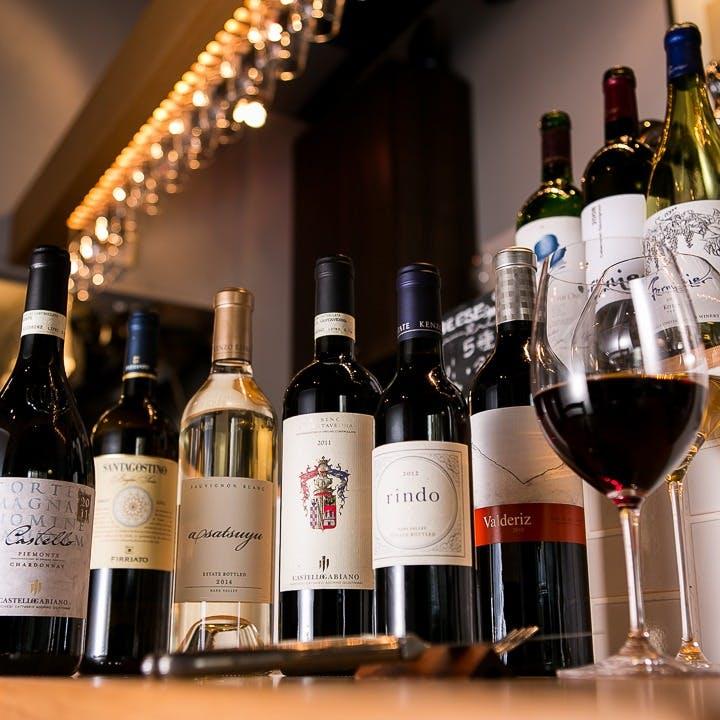 ソムリエが厳選したワインをお料理に合わせてお楽しみください