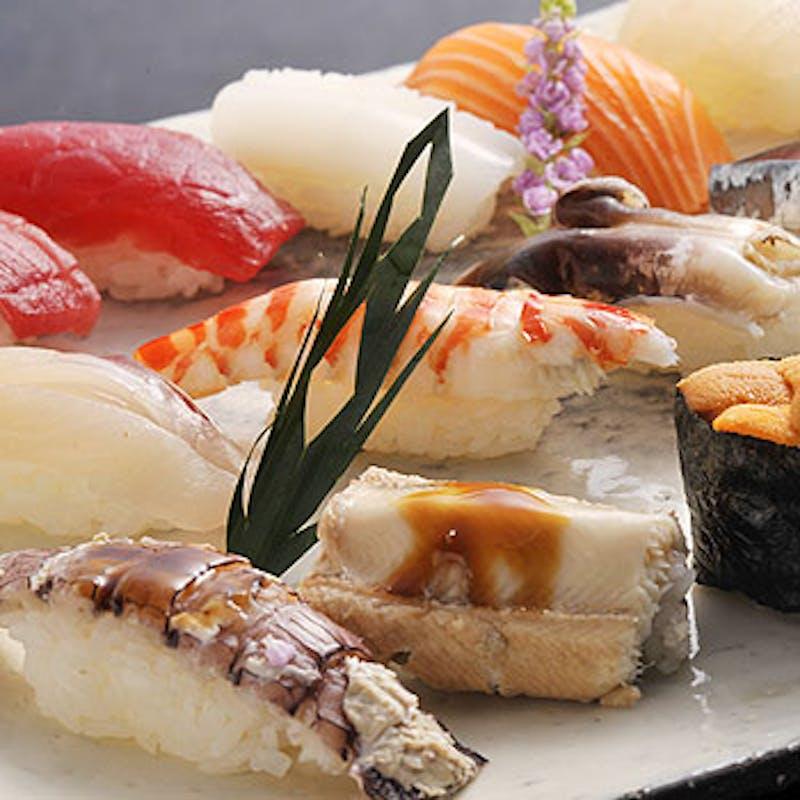 【寿司コース】お魚料理、寿司10貫など全6品(テーブルorカップルシート席)