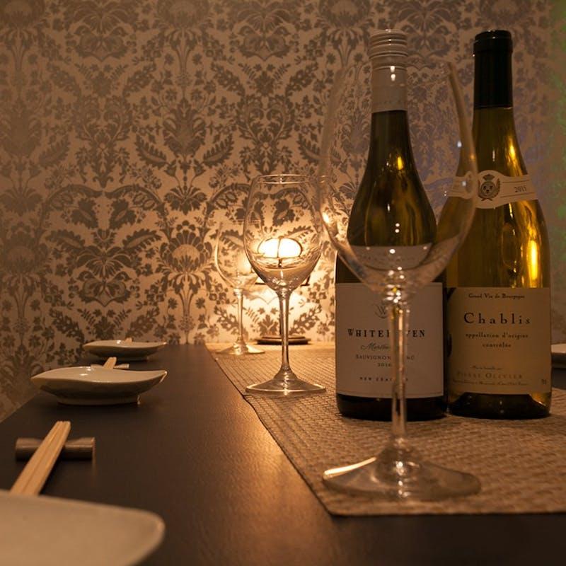 極み個別盛コース!記念日やお祝いにおすすめ、贅沢食材含む全6品+ワインペアリング4杯(個室確約)