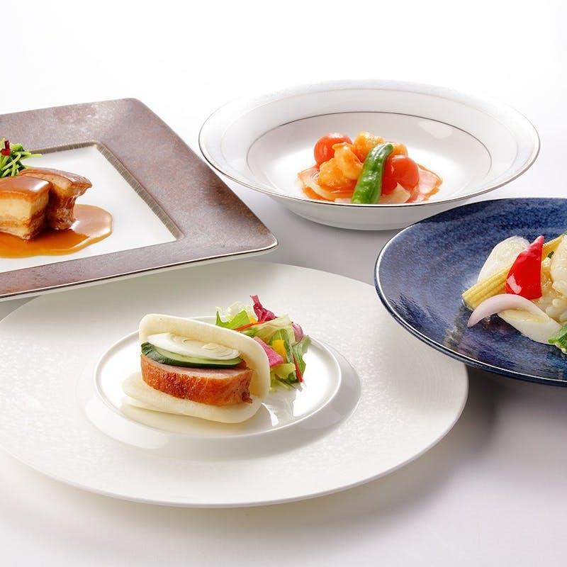 【楊貴妃】中国オードブル/大海老とトマトの香り炒め/東坡肉の柔らか煮 全7品