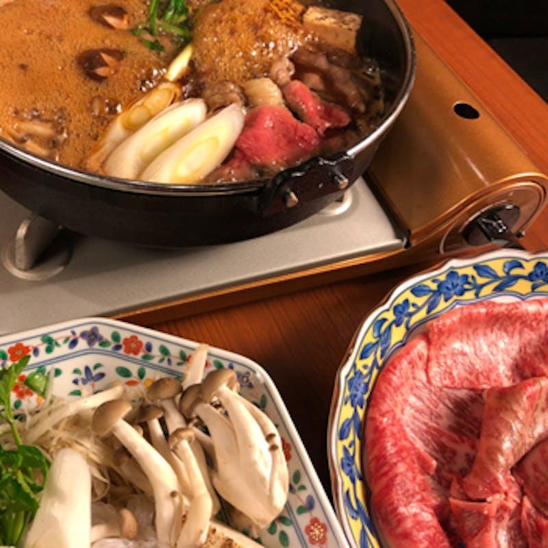 【美熊野牛すき焼きコース】前菜・お造りなど全6品