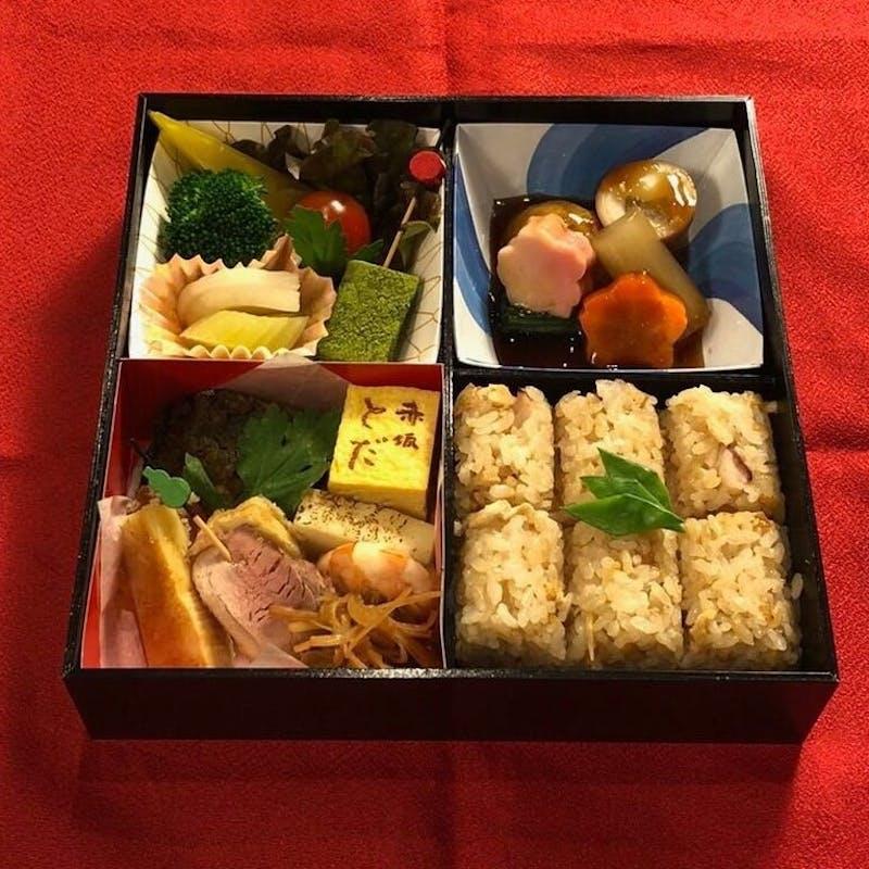 【懐石出前弁当 四つ割り】前菜・焼物・煮物など(テイクアウト専用プラン)