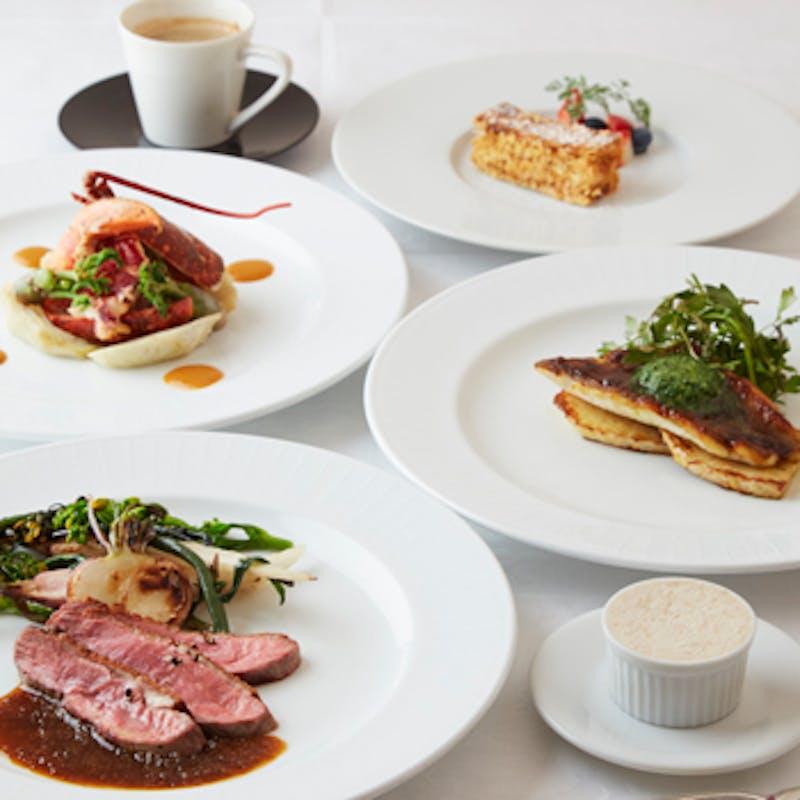 【Menu C】お魚とお肉のWメインなど 全5品+スパークリング含む1ドリンク(土・日・祝限定)