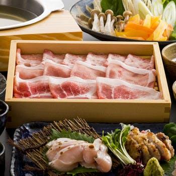 【しゃぶしゃぶコース】島豚あぐーのしゃぶしゃぶがメイン!沖縄の食材を生かした全5品を堪能