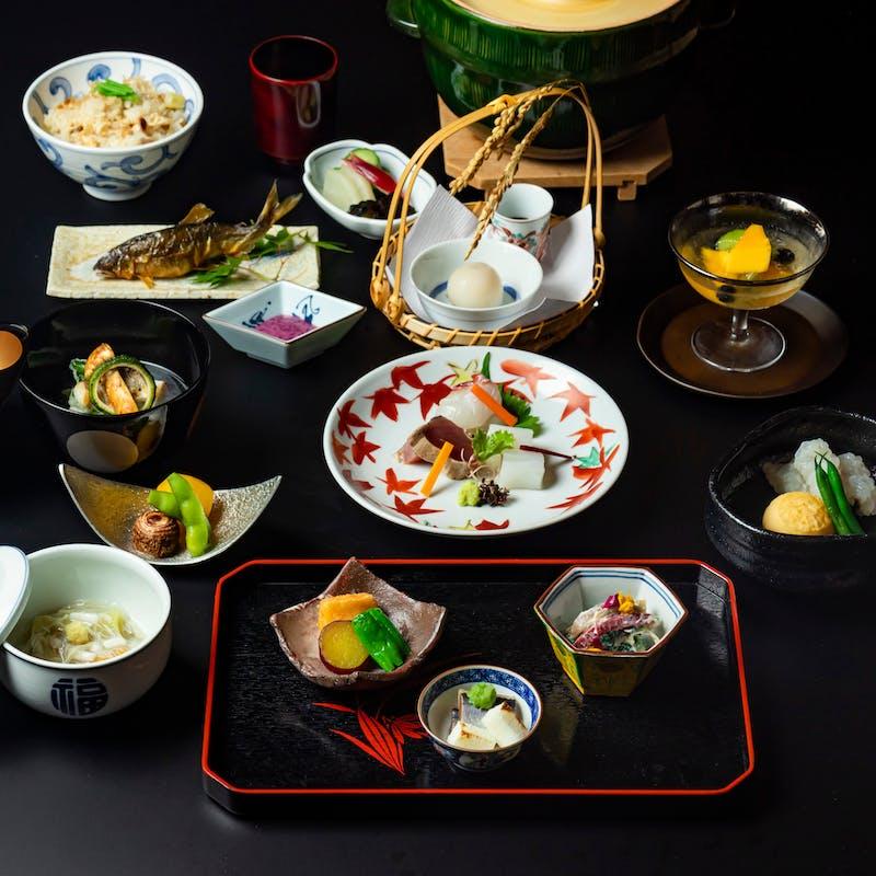 【お顔合わせ・結納プラン】和食:お祝い会席 全10品+乾杯シャンパン(庭園を眺める個室確約)