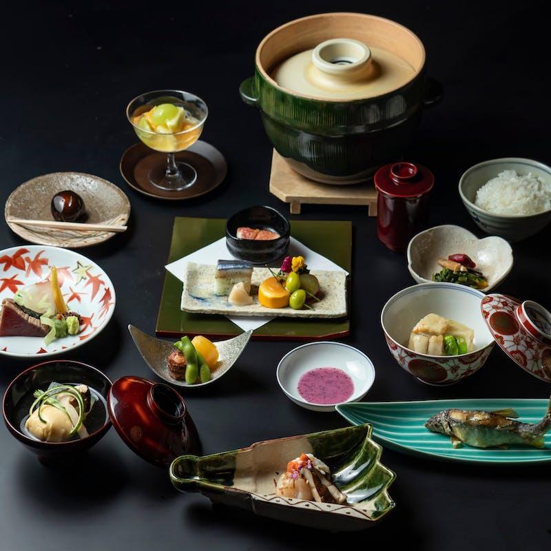 【和食】お昼の和会席 全9品+シャンパンを含む1ドリンク