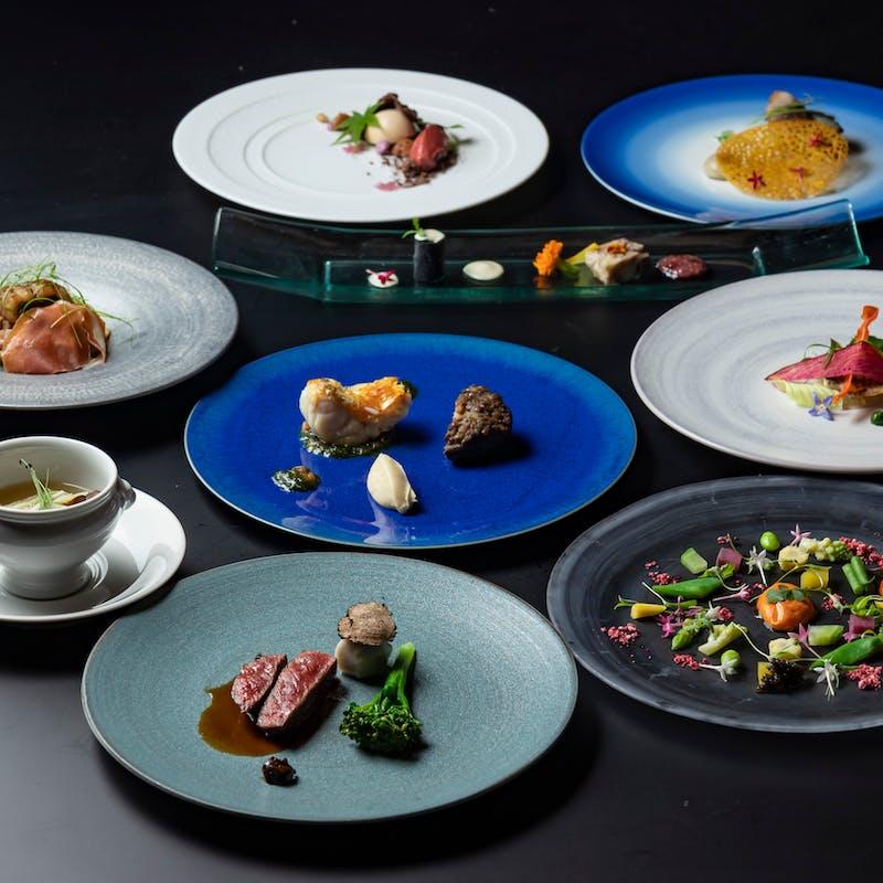 【洋食】Menu Degustation 京の洋食 全10品+シャンパンを含む1ドリンク(庭園を眺める個室確約)
