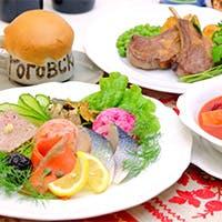 ロシアやウクライナはもとより、コーカサス地方や中央アジアの郷土料理を豊富にご用意