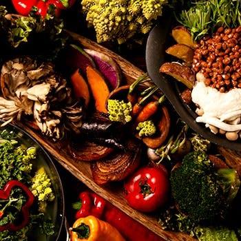 北海道から九州までの契約農家、静岡県の自社農園などからの新鮮野菜を毎日ご用意