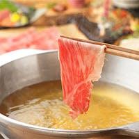 極上の松阪豚、松阪牛、松阪野菜をしゃぶしゃぶ、すき鍋で